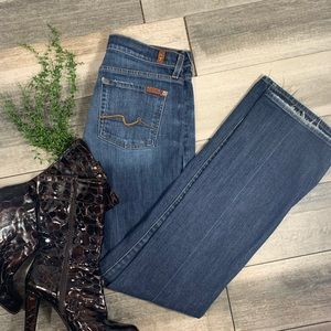 {7 for all mankind} long boot cut jeans